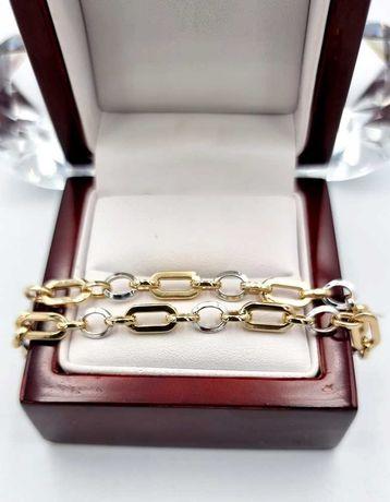 585 Piękna złota bransoletka * 2 kolory złota