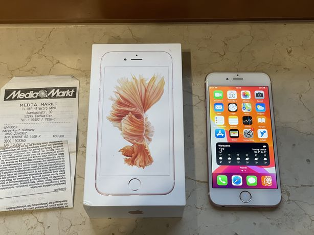 Jak NOWY Apple iPhone 6S 16GB ROSE GOLD różowy +Leather  Case