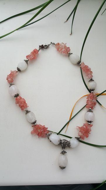 Новые женские бусы Zara ожерелье розовые подвеска женская цепочка