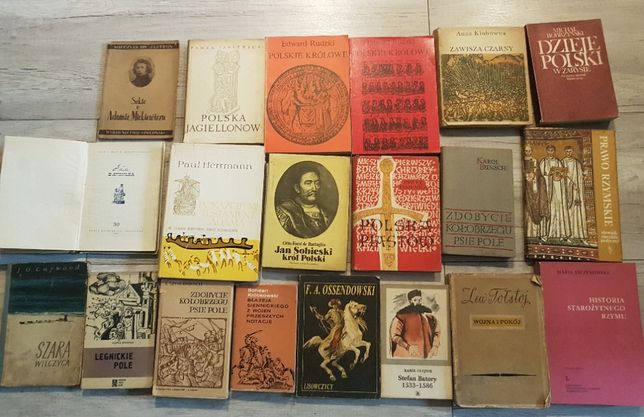 Stare książki Historia Mickiewicz Rzym Piastowie Jagiellonowie Zawisza