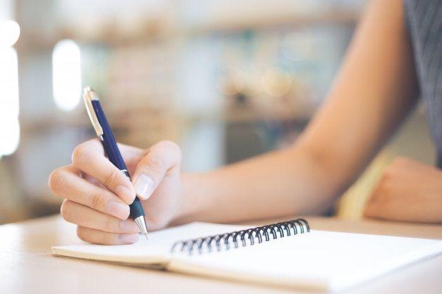 Пишу от руки конспекты