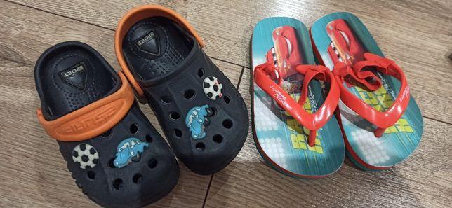 Japonki nowe, klapki 2pary dziecięce na lato