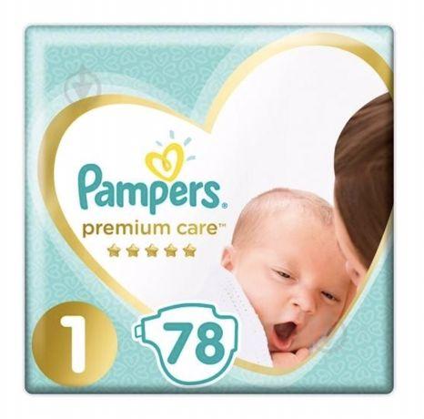 Дешево Pampers premium care 1  78шт