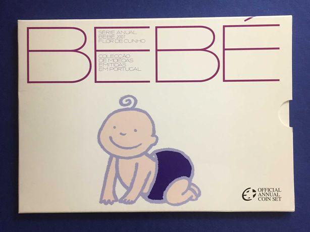Série Anual Bebé 2007 - carteira oficial da INCM - RARA