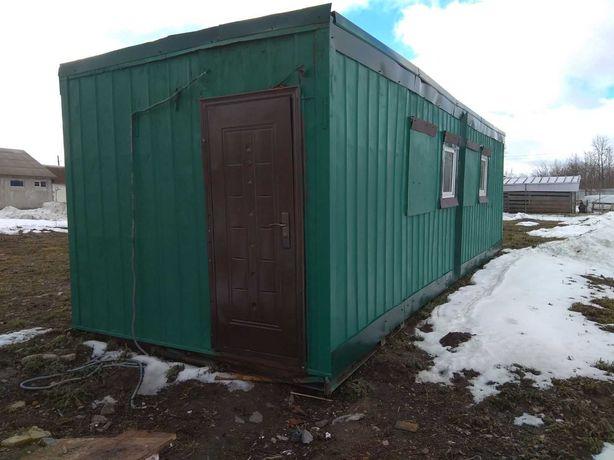 Ларёк магазин вагончик МАФ.9 х 3 м.  ресивер 8
