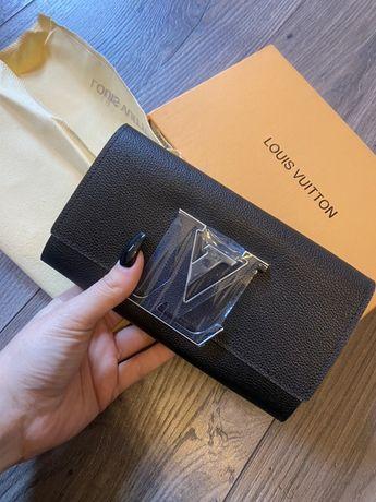 Portfel Lv Louis Vuitton skóra naturalna