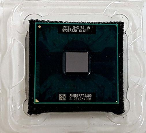 Processador CPU Intel Core 2 Duo T6600 2.20 Ghz p/portátil