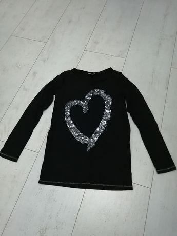 Czarna bluzka z cekinami, r. 152