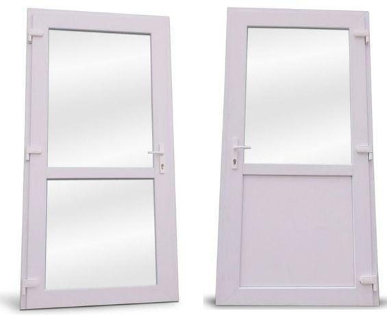 Drzwi PCV Sklepowe Biurowe Zewnętrzne Ciepłe 110x210