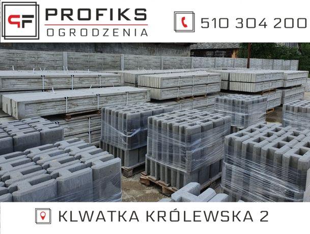 Podmurówka betonowa KOMPLET deska podmurówkowa + łącznik betonowy