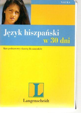 Język hiszpański w 30 dni. Kurs podstawowy z kasetą plus słownik