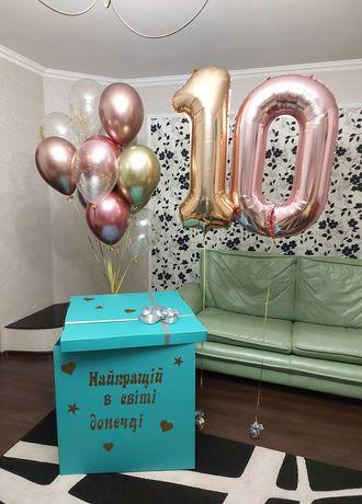Коробка сюрприз з кульками