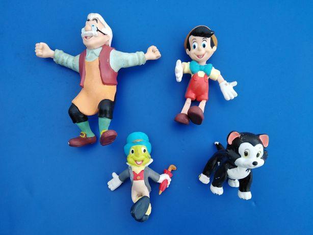 4 Bonecos Disney do Pinóquio