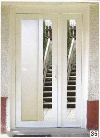 Drzwi PCV białe 130x210 klamka gratis RYBNIK
