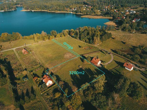 Działka rolna z możliwością zabudowy 3200m2 KRETOWINY nad jez. Narie