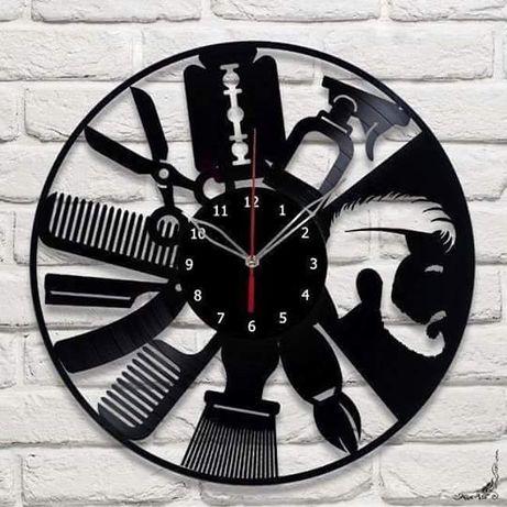 Настенные часы парикмахеру барбер шопу салон красоты