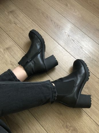 Ботильоны ботинки женские кожаные демисезонные