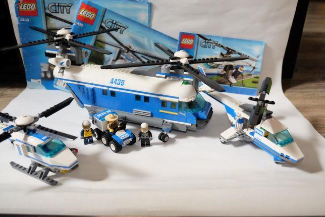 Lego City - 4439, 4473, 7741 - helikoptery policyjne - transportowy