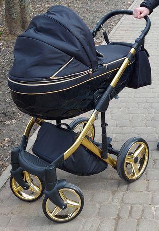 Продам коляску 2 в 1 Adamex Chantal Polar (Gold)C1 черный
