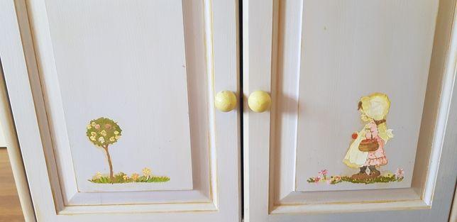 Komoda malowana + półka z lustrem