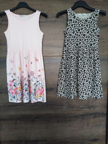 Sukienki letnie 134-140 cm, firma H&M