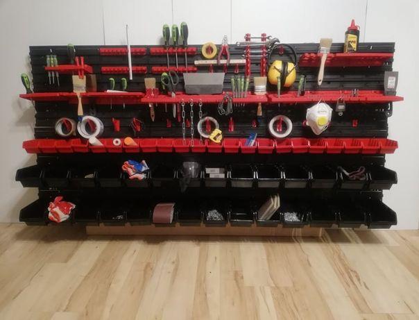 Tablica warsztatowa narzędziowa 170x78cm ścianka garażowa półka szafka