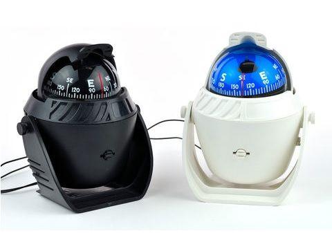 Kompas • Busola żeglarska podświetlana / Wymiary 120x150x90 mm. (SxWxG