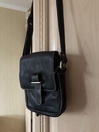 Добротная кожаная мужская сумка, натуральная кожа, германия