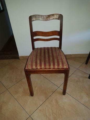 Krzesło drewniane, antyk 3szt