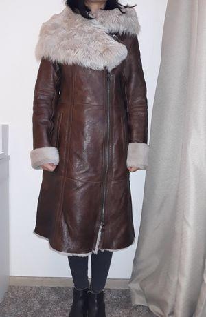 Фирменная дублёнка Alberta пальто