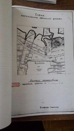 Приватизована земельна ділянка 0.2474 га під забудову с. Буяни участок