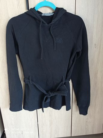 Bluza czarna wiązana Vertus 36 S
