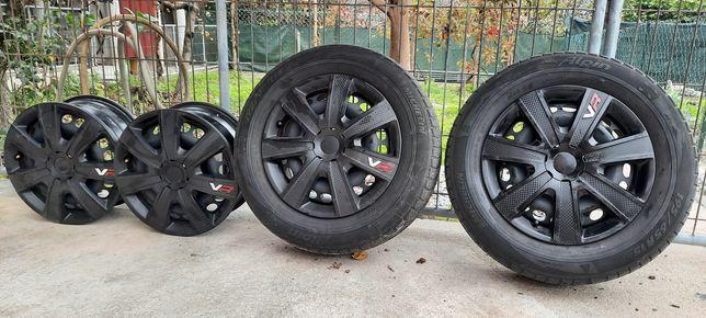 Jantes 15 com 2 pneus
