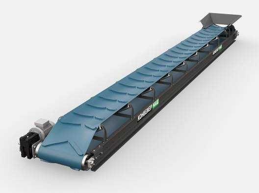 Транспортёр Ленточный стрічковий навантажувач конвейер для щепы.