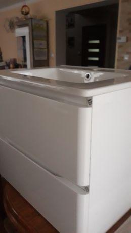 Meble łazienkowe białe,