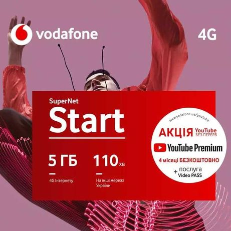 Стартовый пакет Vodafone Super net 4G