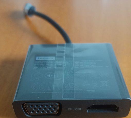 Adaptador Type C para VGA e HDMI