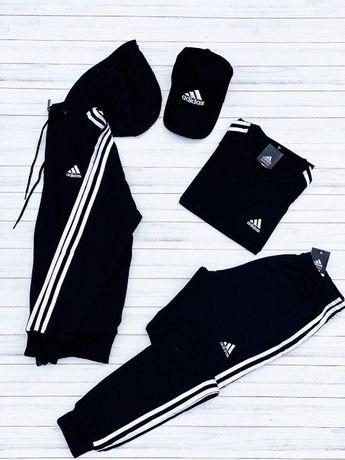 Спортивный костюм Adidas Адидас мужской весенний осенний с лампасами