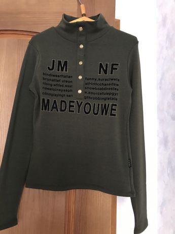 Трикотажная кофта на девочку р 44-46, футболки и кофты в подарок .