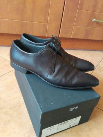Buty męskie firmy HUGO BOSS całe skórzane używane rozmiar 11 polecam .
