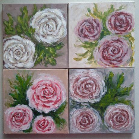 "Картина ""Цветы"" 20×20"