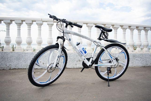ТРЕНД года! LUX Велосипед на ЛИТЫХ дисках BMV Облегчённый Гарантия 1го