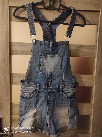 Jeansowe ogrodniczki m/l
