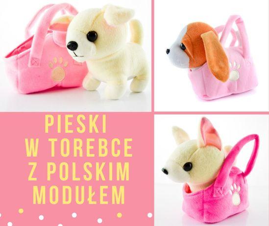 Nowa zabawka - Piesek w torebce -szczeka,mówi,śpiewa