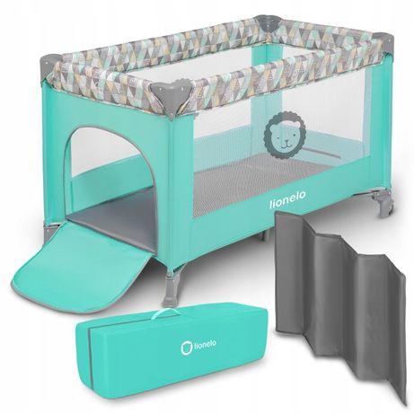Kojec łóżeczko turystyczne Lionelo Stefi 2w1 + torba boczne wejście