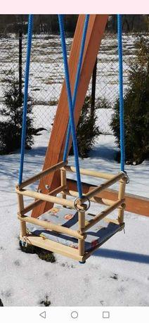 Huśtawka szczeblowa drewniana