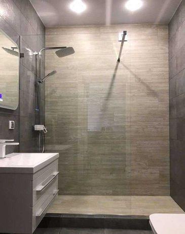 Душевые перегородки и кабины для ванной  из закаленного стекла 8мм