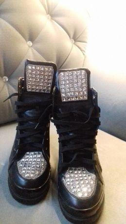 Piękne sneakersy z cyrkoniami 41