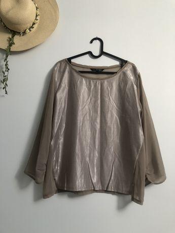 Bluzka top secret 42 XL złota beżowa damska koszulowa nowa