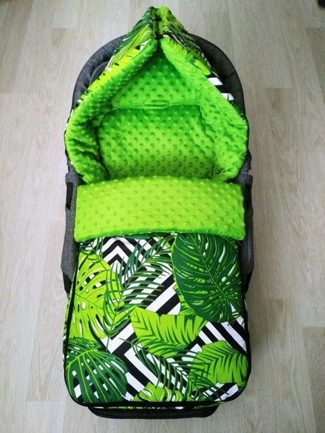 Śpiworek do wózka zimowy 4 w 1 bawełna+ minky   Makles Design